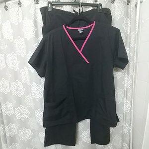 Black Scrub Set size XL